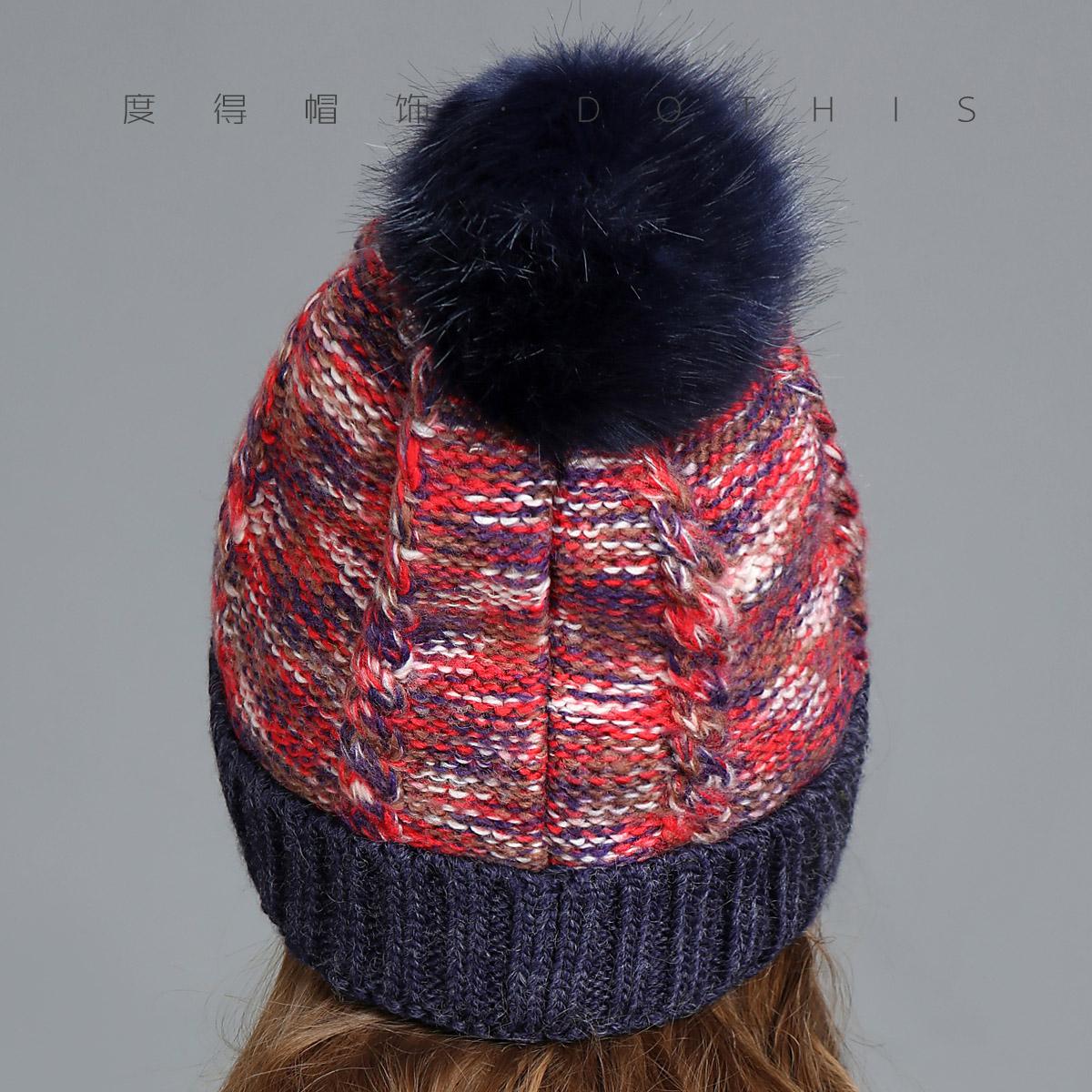 帽子女冬季韩版新款潮两件套毛线帽围巾针织帽棉帽时尚百搭亲子帽