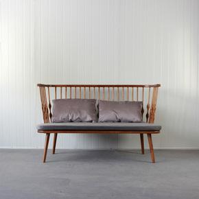北欧实木简约现代日式可拆洗省空间水曲柳三人沙发休闲创意沙发