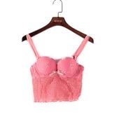 50556 专柜正品 包邮 玫红少女风抹胸式靓丽显纯洁文胸 芬系列新品