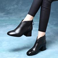 欧洲圆头女靴