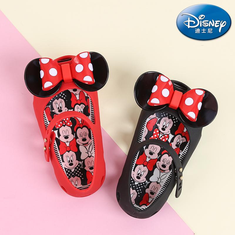 迪士尼儿童凉鞋夏女童小公主软底女婴儿宝宝果冻鞋1-3岁可爱沙滩