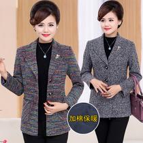 35岁中年妇女秋冬装小西装40妈妈穿45大码50中老年衣服55短款外套