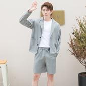 CSOCSO夏季休閑韓風網紅無里布小西服單西潮男寬松薄款 西裝 外套男