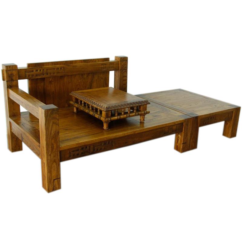 中式东南亚风格实木贵妃椅古今原木BD312榆木美人靠沙发贵妃榻