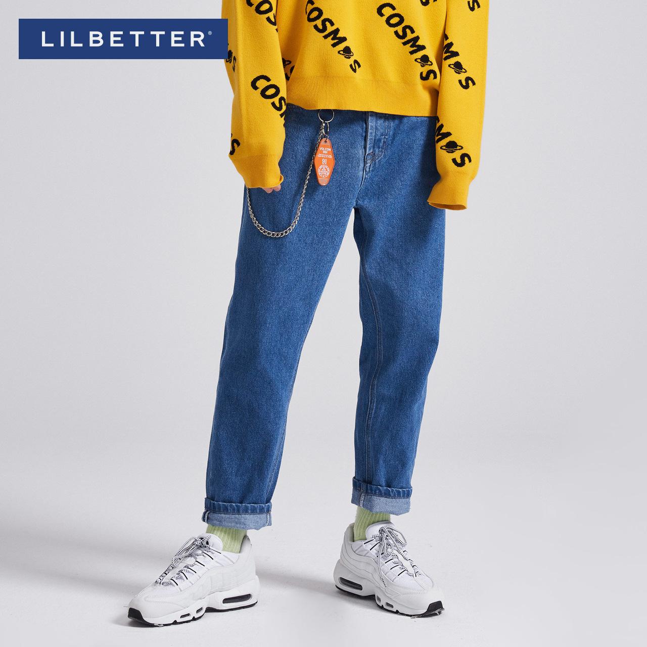 文艺牛仔裤