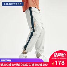 Lilbetter裤子男 嘻哈束脚裤男潮?#24179;?#22836;哈伦裤运动长裤宽松休闲裤
