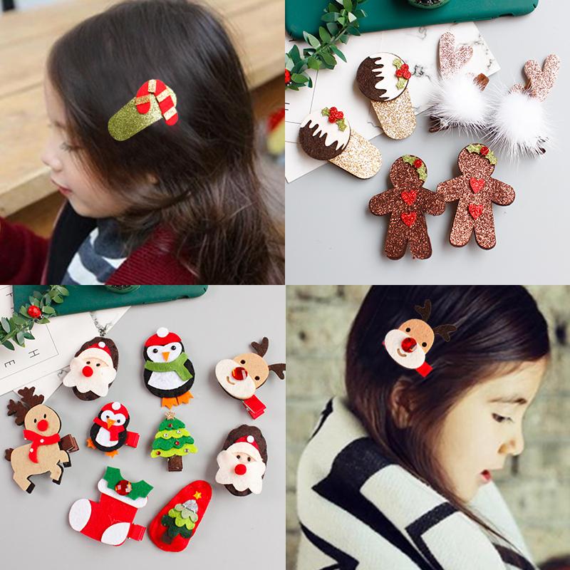 韩国儿童发饰发夹宝宝圣诞节不.