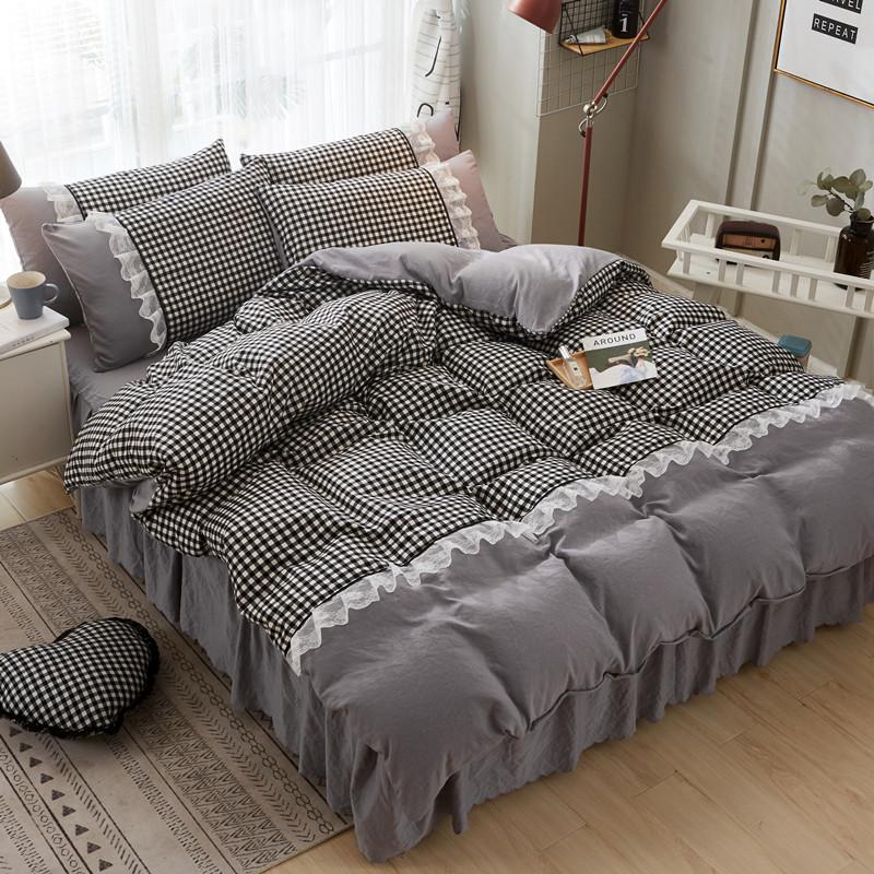 床单床罩床裙四件套