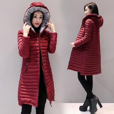 处理冬装棉衣女中长款修身显瘦连帽羽绒棉服大码2018新款防寒外套