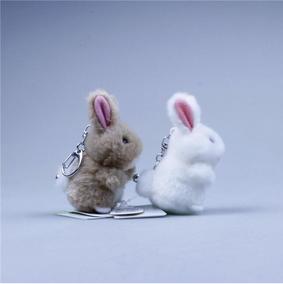 小白兔玩具公仔兔兔玩具手工车内毛绒挂件小白兔情侣玩具兔子挂件