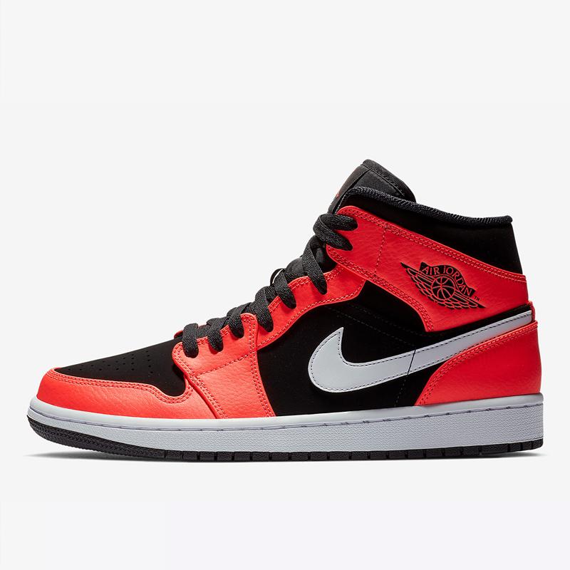 Nike Air Jordan 1 Mid AJ1黑红禁穿红外线女子篮球鞋554725-061