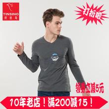 Tinsino 长袖 纤丝鸟纤丝鸟男款 印花T恤骑士满200减15满200减15