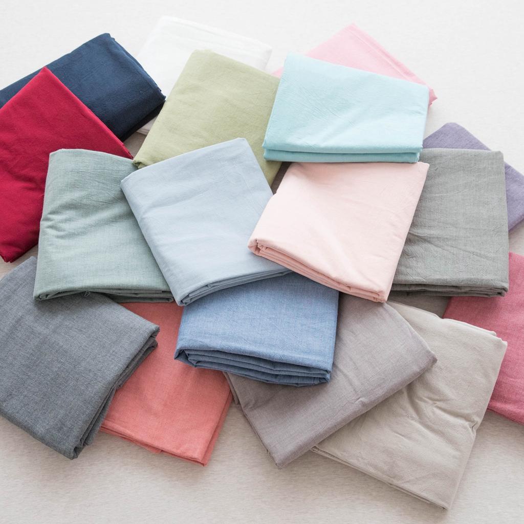 纯色棉麻床单