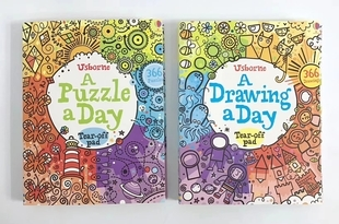 usborne a drawing a day a puzzle a day  2本售 现货