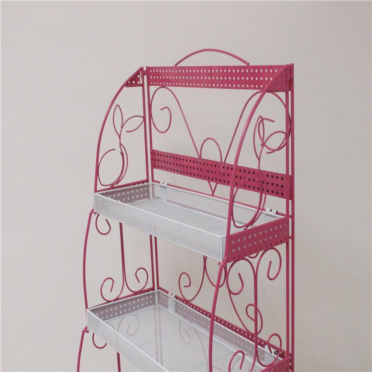 加宽化妆品货架小型家用指甲油架子精品架置物架面膜展示架童鞋架