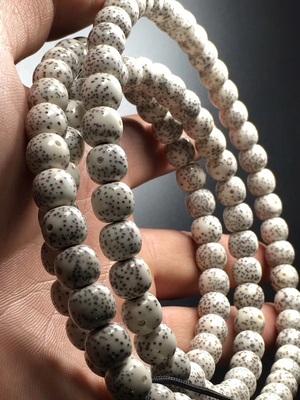 一物一图海南星月菩提子114正月高密素珠佛珠手链男女项链8*9桶珠