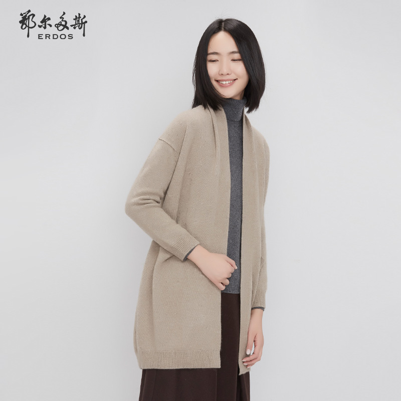 螺纹羊绒开衫