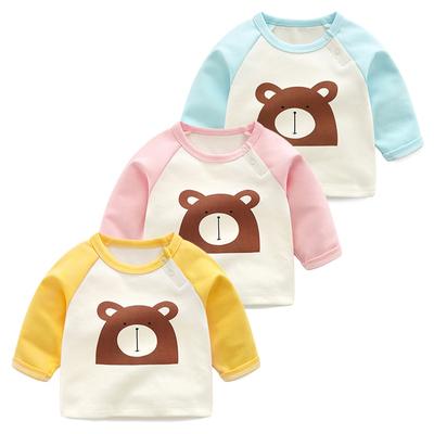 婴儿长袖t恤纯棉男春装春季上衣春秋女宝宝小熊T恤衫体恤衫打底衫是什么牌子