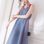 字型中长款连衣裙