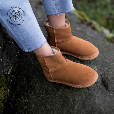 力果森林 包邮新款经典品质雪地靴 舒适冬季温暖羊羔毛短靴子