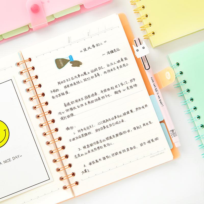 糖果色笔记本子