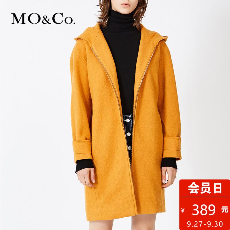 拉链毛呢大衣外套