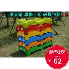 直销幼儿园塑料床幼儿园专用床幼儿园塑料床加厚儿童午睡塑料床