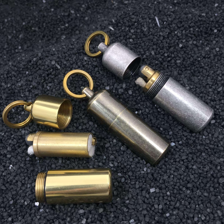 佐罗524纯铜圆柱煤油打火机便携户外备用挂坠袖珍迷你钥匙扣吊环