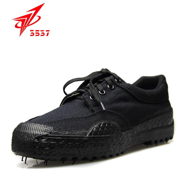 3537解放鞋男07作训鞋黑色工地耐磨劳动胶鞋军鞋帆布鞋军训迷彩鞋