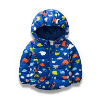 儿童棉衣男加厚棉袄时尚宝宝外套童装2019冬新款恐龙卡通保暖棉服