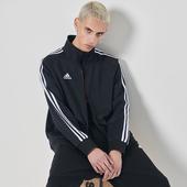 茄克休闲跑步运动服装 阿迪达斯外套男新款 冬季薄款 针织立领上衣