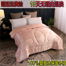 Silk cool quilt 100 mulberry silk winter quilt 8 kg thick single double quilt core spring and autumn air conditioned quilt