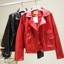 加肥加大码女装秋冬季200斤胖mm30-40岁上衣25韩版短款PU皮衣外套