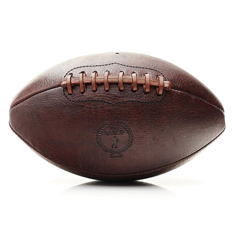 新西兰M.V.P 传统复古美式英式橄榄球收藏纯牛皮手工缝制运动礼物