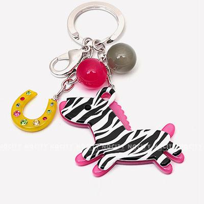韩国进口Aznavour正品 超萌可爱斑马汽车钥匙扣包包挂件钥匙圈