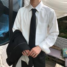 白色衬衫 长袖 商务韩版 男士 白口阳 潮流帅气bf百搭休闲宽松衬衣