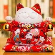 Lucky cat decoration opening large ceramic piggy bank shop home adult gift super big fortune cat piggy bank