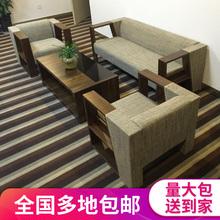 办公室沙发茶几组合现代简约单双三人位接待商务会客布艺办公沙发