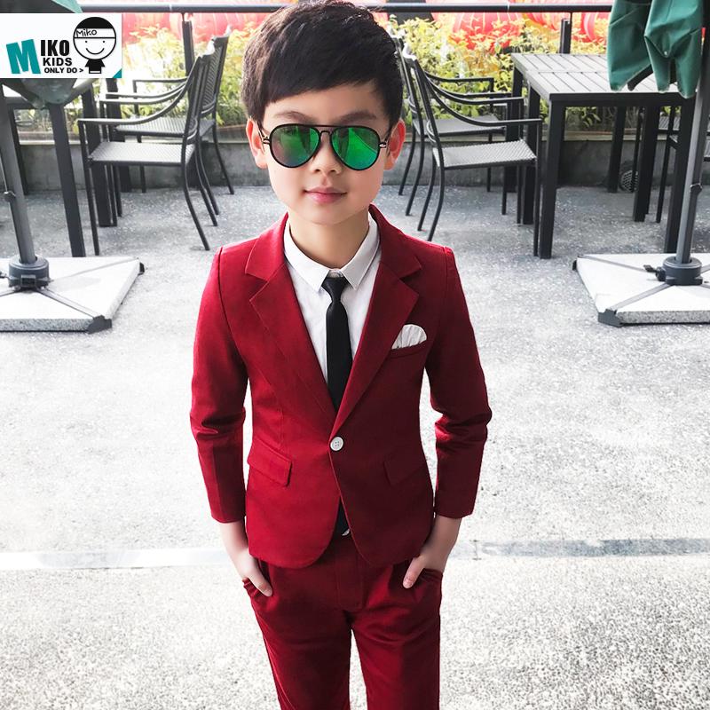 春季儿童小西装套装 男童礼服 春秋款韩版宝宝西服主持人花童套装