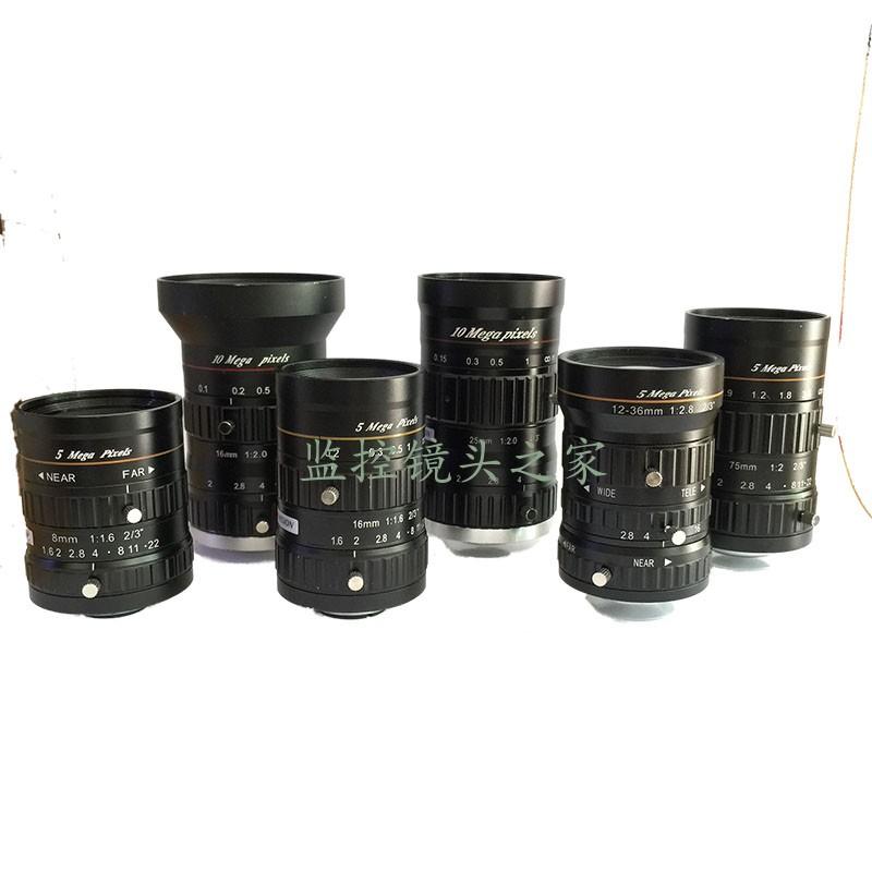 沃乐斯超1000万像素 4/3英寸 定焦16mm 手动光圈镜头工业镜头监控