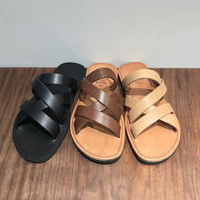 MBLIN Korean Three-color Summer Casual Men's Sandals New Delivery Leather Cool Slippers