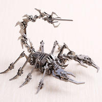 Scorpio patron saint steel magic stainless steel all metal assembled creative model boyfriend gift 蝎子王-包邮