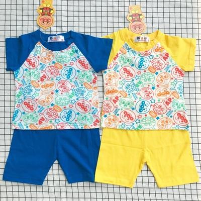 男童纯棉夏季套装宝宝家居服面包超人儿童套装儿童夏款睡衣