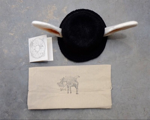 谢娜同款苏格兰小众设计师新西兰羊毛毛毡手工帽子重工