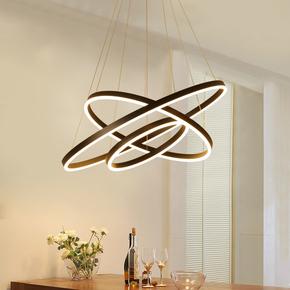 简约圆形吊灯饰环形现代个性创意客厅餐厅办公室LED吊灯灯具
