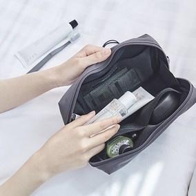 韩国ithinkso简约大容量化妆包多功能呢数码收纳包旅行手拿洗漱包