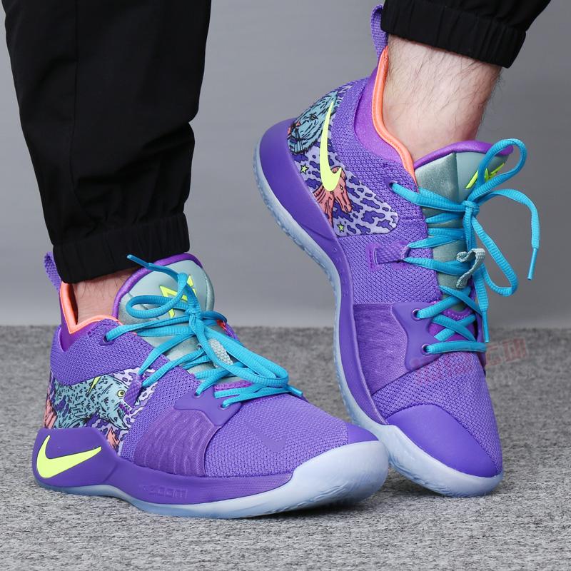 NIKE耐克男鞋2018新款保羅喬治PG2雷霆曼巴精神男子籃球鞋AO2985