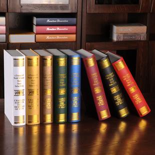欧式达尔文仿真书假书道具书摄影装饰品模型书盒书房书柜摆设摆件