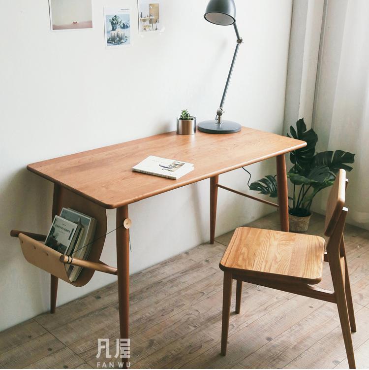 北欧实木电脑桌