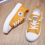 Children's canvas shoes girls shoes 2019 autumn new Korean version of the solid color boys shoes shoes baby shoes sports shoes